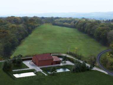 Vue aérienne projet usine eau potable Virecourt